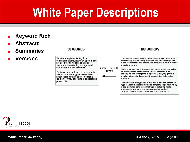 marketing white paper