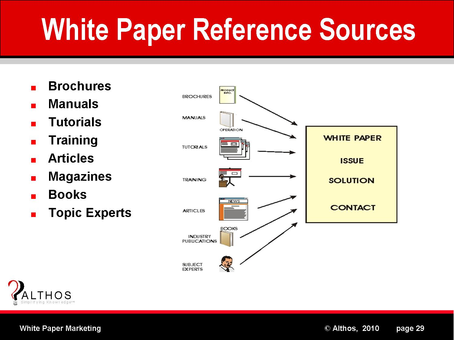 marketing white paper White papers, ebooks and guides are among the most time-intensive content marketing projects however, the time spent on these marketing powerhouses often pays off a well-crafted white paper can.