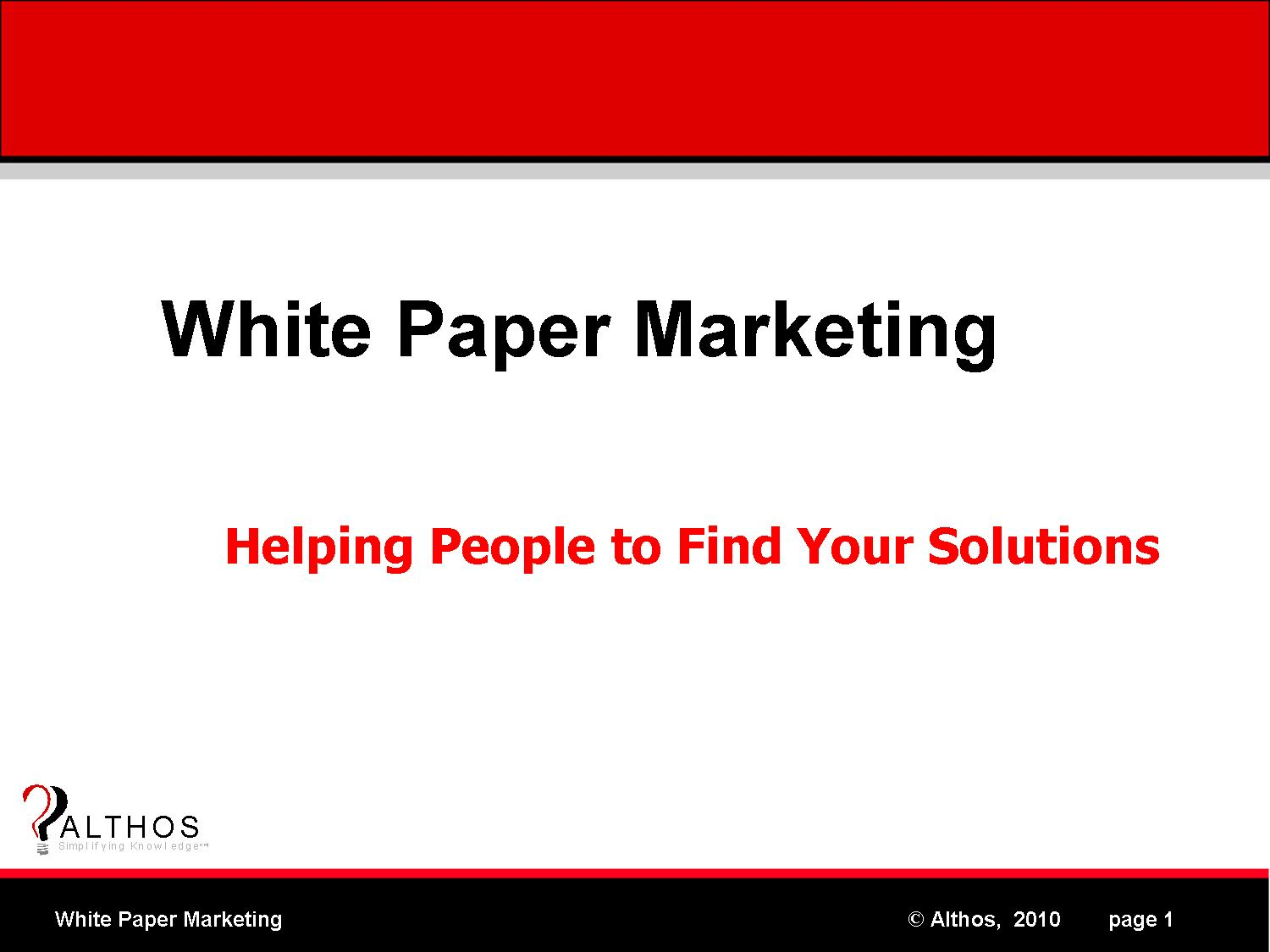 online marketing white paper